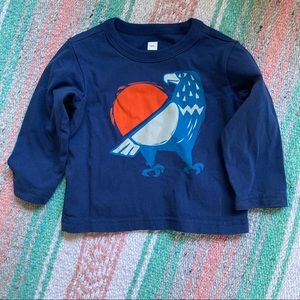 TEA COLLECTION Eagle print LS tee size 6-9months